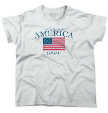 Hawaii State Patriotic Gift Ideas American USA T Shirt Flag Ladies T Shirt