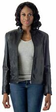 Women's Moto Leather Fashion Jacket - Soft Genuine Leather Coat Reed Since 1950