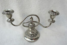 SILVER PLATED 2 BRANCH IANTHE CANDLESTICK