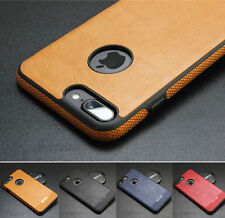 Luxury Ultra-thin TPU PU Leather Shakeproof Back Case Cover For Apple / Samsung