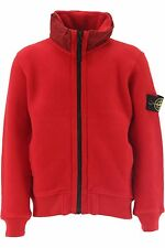 STONE ISLAND Kids Clothing FLEECE JACKET IN RED WITH HOOD SALE SALE SALE !!!