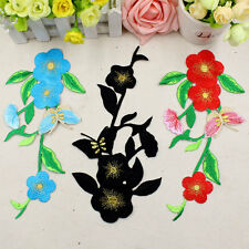 flower large size sew on embroidered patch diy Decorate clothes repair hole
