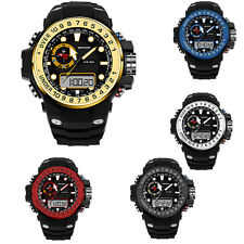 Fashion Sanda Men Dual Time Waterproof Analog Digital Sports Quartz Watch 399