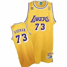 #73 Dennis Rodman Los Angeles Lakers throwback NBA jersey Mens sizes new!