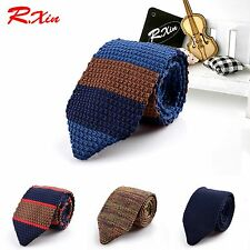 Fashion Male Slim Designer Knitted Ties Neck Ties Cravate Narrow Skinny