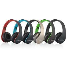 Bluetooth Wireless Foldable Headset Stereo Headphone Wired Earphones FM MP3 Q4D2