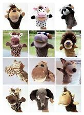 Animal Pattern Hand Glove Puppet Soft Plush Puppets Kid Pretend Toy Role Play UK