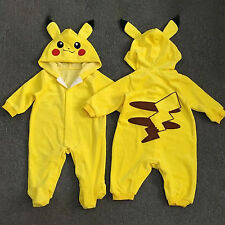 Cosplay Pokemon Go Toddler Infant Baby Boys Girls Pikachu Outfit Jumpsuit Romper