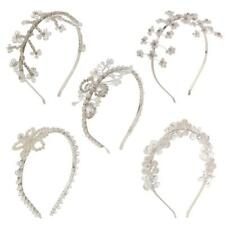 Ladies Bridal Crystal Floral Pearl Hairband Tiara Headband Wedding Headdecor