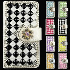 2017 Luxury Colorful  Bling Glitter PU Leather Flip Case Wallet Cover For ZTE