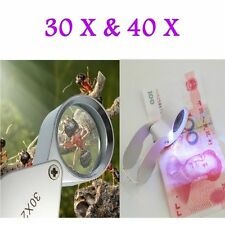 New Clearly 30X/40X Glass Magnifying Magnifier Jeweler Eye Jewelry Loupe Loop HE