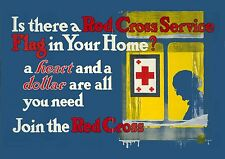Art print POSTER 1917-RED-Is there a Red Cross service flag in your home