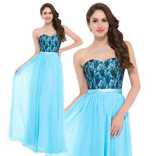 Strapless Chiffon Ball Gown Formal Evening Prom Party Dress Cocktail Pageant