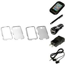 For LG Optimus S LS670 Crystal Hard Snap-On Transparent Case Cover Headphones