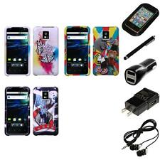 For LG Optimus G2X P990 Design Snap-On Hard Case Phone Cover Headphones