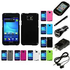 For Samsung Galaxy S2 i9100 Rigid Plastic Hard Snap-On Case Cover Headphones