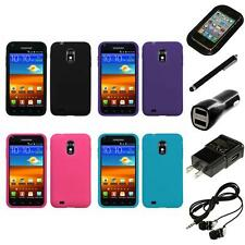 For Samsung Epic Touch 4G D710 Silicone Skin Rubber Soft Case Cover Headphones