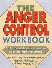 2-DAY SHIPPING | The Anger Control Workbook, PAPERBACK, Matthew McKay, 2000