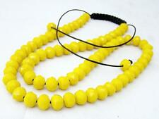 New SHAMBALLA CRYSTAL  NECKLACE YELLOW BEADS DISCO BALL CHAIN