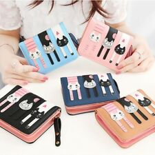 New Ladies Womens Girls 3D Cat Purse Zipped Wallet Bi-Folding Super Quality