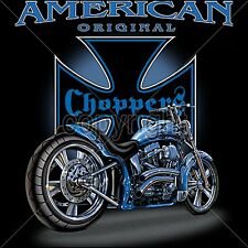 American Biker T Shirts Chopper Cross Custom Motorcycle Mens Small to 6XL & Tall