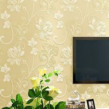 Newly Wallpaper 3D Flowers Non-Woven Bedroom Stickers Hotel Home Wall Background