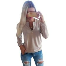 Casual Ladies V-Neck Long Sleeve Hoodie Women Winter Jumper Pullover Tops