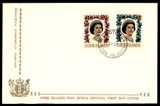 Cook Islands 1967 QEII $1 & $2 Cacheted UA FDC Scott 216-217