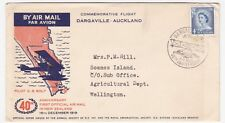 NEW ZEALAND FIRST OFFICIAL AIRMAIL ANNIVERSARY 1959 COMMEMORATIVE NEAT COVER
