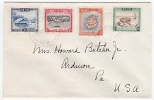 Niue 1950 Pictorials 4 color Franking On cover 3d to US Ardmore PA