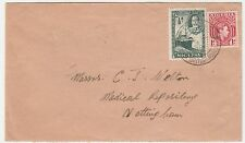 Nigeria to England 1938 Mixed Reign Franking British Mandate Postmark cover