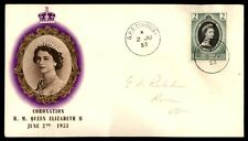 Dominica GPO Ju 2 1953 Coronation Color Cacheted FDC Pencil Address