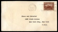 1940 Port au Prince Haiti slogan cancel on cover to New York City US