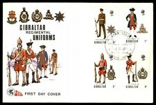 November 6, 1969 Gibraltar regimental uniforms first day cover
