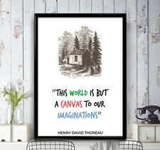 Henry David Thoreau Quote - The World Is But A Canvas - Poster Print, Wall Art