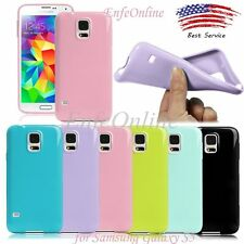 New Soft Rubber TPU Gel Skin Protective Case Cover For Samsung Galaxy S5 I9600