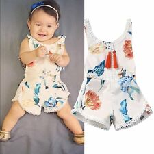 Newborn Infant Baby Girl Bodysuit Floral Romper Jumpsuit Outfits Sunsuit Clothes