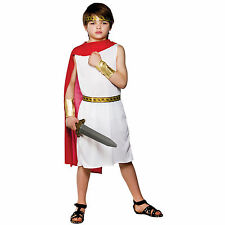 Child Boys Ancient Roman Boy Costume Fancy Dress Up Role Play Party Halloween