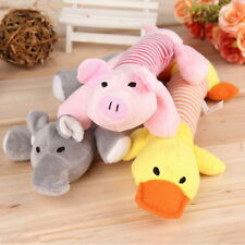 Puppy Chew Squeaker Squeaky Plush Sound Elephant Duck pig Ball For Dog Toy DE