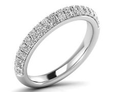 0.70 Carat Round Brilliant Cut Diamonds Half Eternity Wedding Ring In 18K Gold