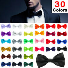 New Fashion Mens Adjustable Satin Wedding Prom Party Bow Tie Necktie tuxedo Ties