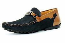 Mezlan Taddeo Driving Men's Slip-On Loafer Shoe Suede Leather 7070 Black Tan