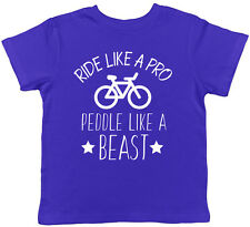 Ride Like A Pro Peddle Like A Beast Bicycle Childrens Kids Short Sleeve T-Shirt