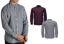 Jack and Jones  Mens Sign Purple Fig  Check Slim Fit Shirts
