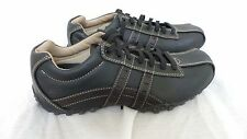 Nerw!!  SKECHERS 60488 CITY WALK  LEATHER CASUAL OXFOR MIDNIGHT - BLACK   G56