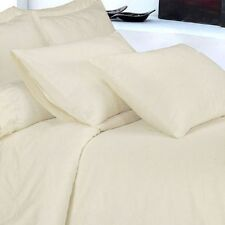 USA SIZE EXTRA DEEP POCKET 4PC SHEET SET IN IVORY SOLID 1000TC 100% COTTON