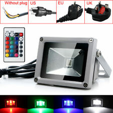 New Outdoor 10W RGB Waterproof LED Flood Light Landscape Lamp W/ Remote Control