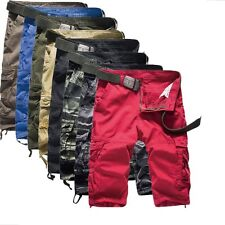 Mens Casual Work Combat Army Shorts Cargo Pants Hiking Sports Trousers 8 Colors