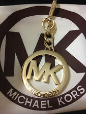 BRAND NEW AUTH MICHAEL KORS GOLD SILVER MK PURSE CHARM KEY RING FOB KEYCHAIN
