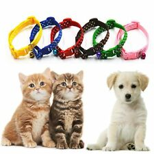 Neck Chain Animal Cat Kitten Nylon Fabric Pet Polka Bell Collar Dog Puppy